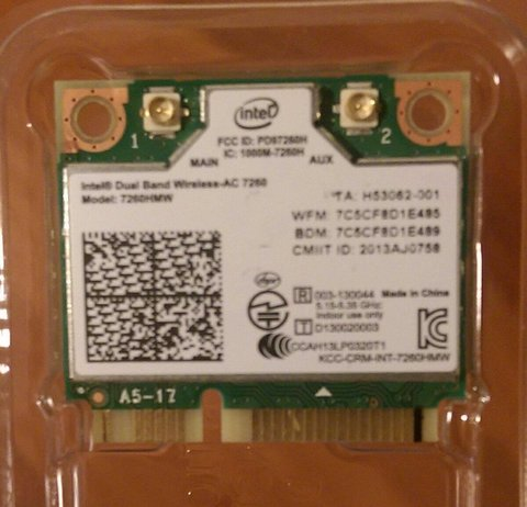 Tape on Pin 20 on the front of the Intel 7260