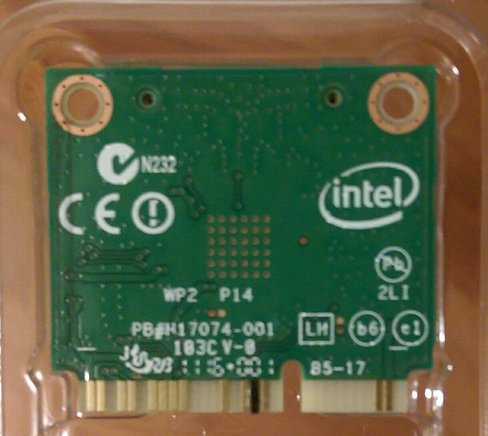 Tape on Pin 51 on the back of the Intel 7260